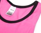 Bonds Girls' Wideband Tank - Pom Pom Pink 3