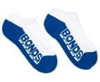 Bonds Kids' Logo Low Cut Socks 3-Pack - Blue/Red/Teal 4