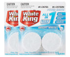 2 x White King In-Cistern Bright White Power Shots 2-Pack 50g 1