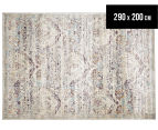 Belle Exquisite 290x200cm Large Rug - Silver 1