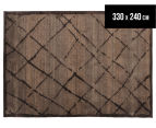 Bedouin Tribal Grid 330x240cm X Large Plush Rug - Brown 1