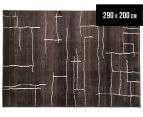 Bedouin Tribal Riverbed 290x200cm Large Plush Rug - Chocolate 1
