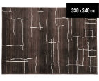Bedouin Tribal Riverbed 330x240cm X Large Plush Rug - Chocolate 1