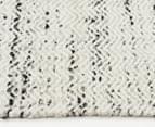 Amalia Scandinavian 225x155cm Flatweave Static Chevron Rug - White 3