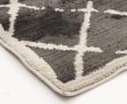 Bedouin Tribal Grid 230x160cm Medium Plush Rug - Grey 3
