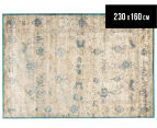 Antique Look Art Silk 230x160cm Medium Rug - Blue 1