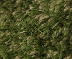 Hand Knotted New Zealand Wool 165x115cm Shag Rug - Green 3