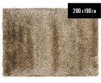 Hand Knotted New Zealand Wool 280x190cm Shag Rug - Latte 1