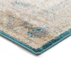 Antique Look Art Silk 230x160cm Medium Rug - Blue 3
