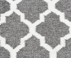 Amalia Scandinavian 280x190cm Flatweave Scandi Lattice Rug - Grey 4