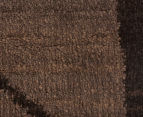 Bedouin Tribal Grid 330x240cm X Large Plush Rug - Brown 5