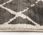 Bedouin Tribal Grid 330x240cm X Large Plush Rug - Grey 4