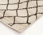 Bedouin Tribal Reflections 290x200cm Large Plush Rug - Cream 3