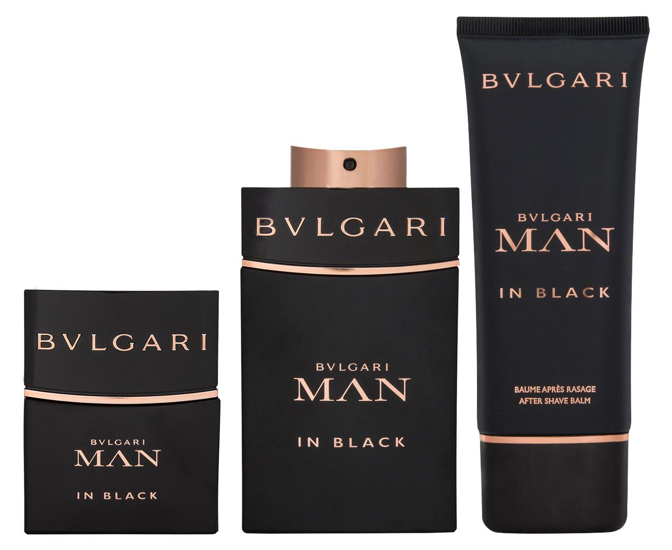 Bvlgari Man In Black 3 Piece Edp Gift Set 100ml