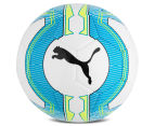 Puma Size 5 EvoPower 6.3 Trainer MS Football - White/Atomic Blue/Safety Yellow 2