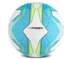 Puma Size 5 EvoPower 6.3 Trainer MS Football - White/Atomic Blue/Safety Yellow 4