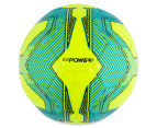 Puma Size 5 EvoPower 6.3 Trainer MS Football - Safety Yellow/Atomic Blue/Black 4