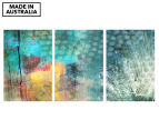 Feathered Dots Triptych 45x30cm Canvas Wall Art 1