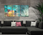 Feathered Dots Triptych 45x30cm Canvas Wall Art 2
