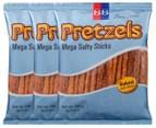 3 x Beigel & Beigel Mega Salty Pretzel Sticks 150g 1