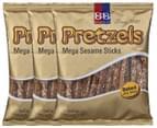 3 x Beigel & Beigel Mega Sesame Pretzel Sticks 150g 1