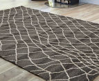 Bedouin Tribal Reflections 290x200cm Large Plush Rug - Grey 2