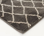 Bedouin Tribal Reflections 330x240cm X Large Plush Rug - Grey 3