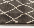 Bedouin Tribal Reflections 330x240cm X Large Plush Rug - Grey 4
