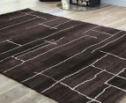 Bedouin Tribal Riverbed 290x200cm Large Plush Rug - Chocolate 2
