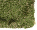 Hand Knotted New Zealand Wool 225x155cm Shag Rug - Green 2