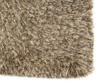 Hand Knotted New Zealand Wool 280x190cm Shag Rug - Latte 2