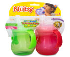 Nuby No-Spill 2-Pack Trainer Cup - Red/Green 6
