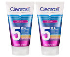 2 x Clearasil Ultra 5-in-1 Exfoliating Scrub 150mL 1