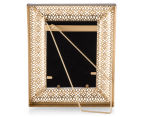 Antique Punched Metal 22x26cm Photo Frame - Brown 3