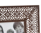 Antique Punched Metal 19x19cm Photo Frame - Brown 4