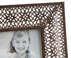 Antique Punched Metal 22x26cm Photo Frame - Brown 4