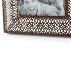 Antique Punched Metal 22x26cm Photo Frame - Brown 5