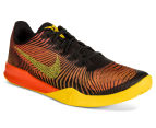 Nike Men's KB Mentality II Basketball Shoe - Black/Tour Yellow/Total Crimson 2