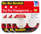 3 x Scotch Transparent Tape Dispenser 1