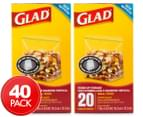 2 x Glad Small Stand Up Storage Bags 20pk 1