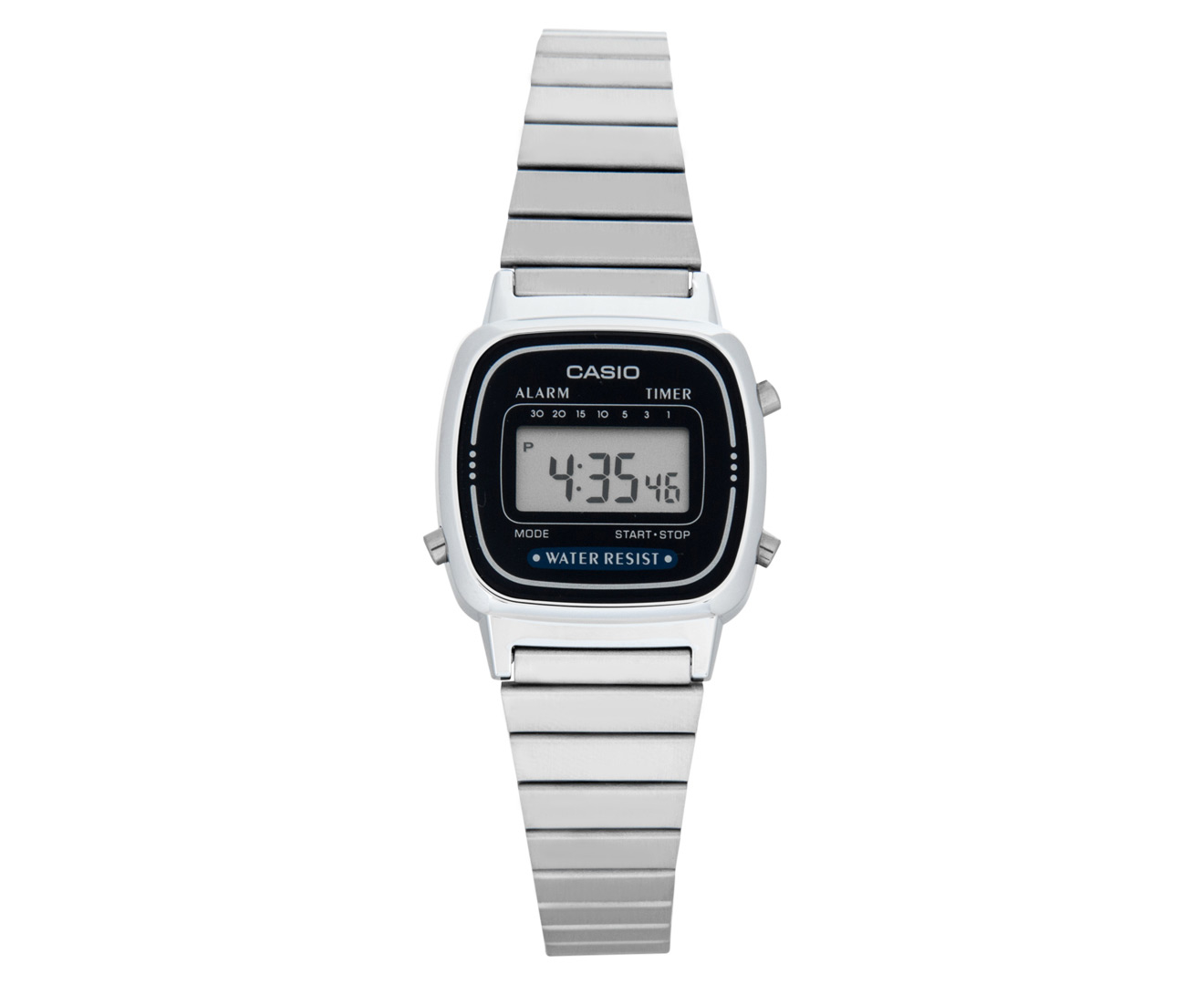 casio s 23mm la670wa 2d digital silver blue