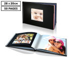 Personalised 28 x 20cm Leather-Look Cover Photo Book - 50 Pages 1