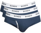 Bonds Men's Guyfront Brief 3-Pack - Navy 1
