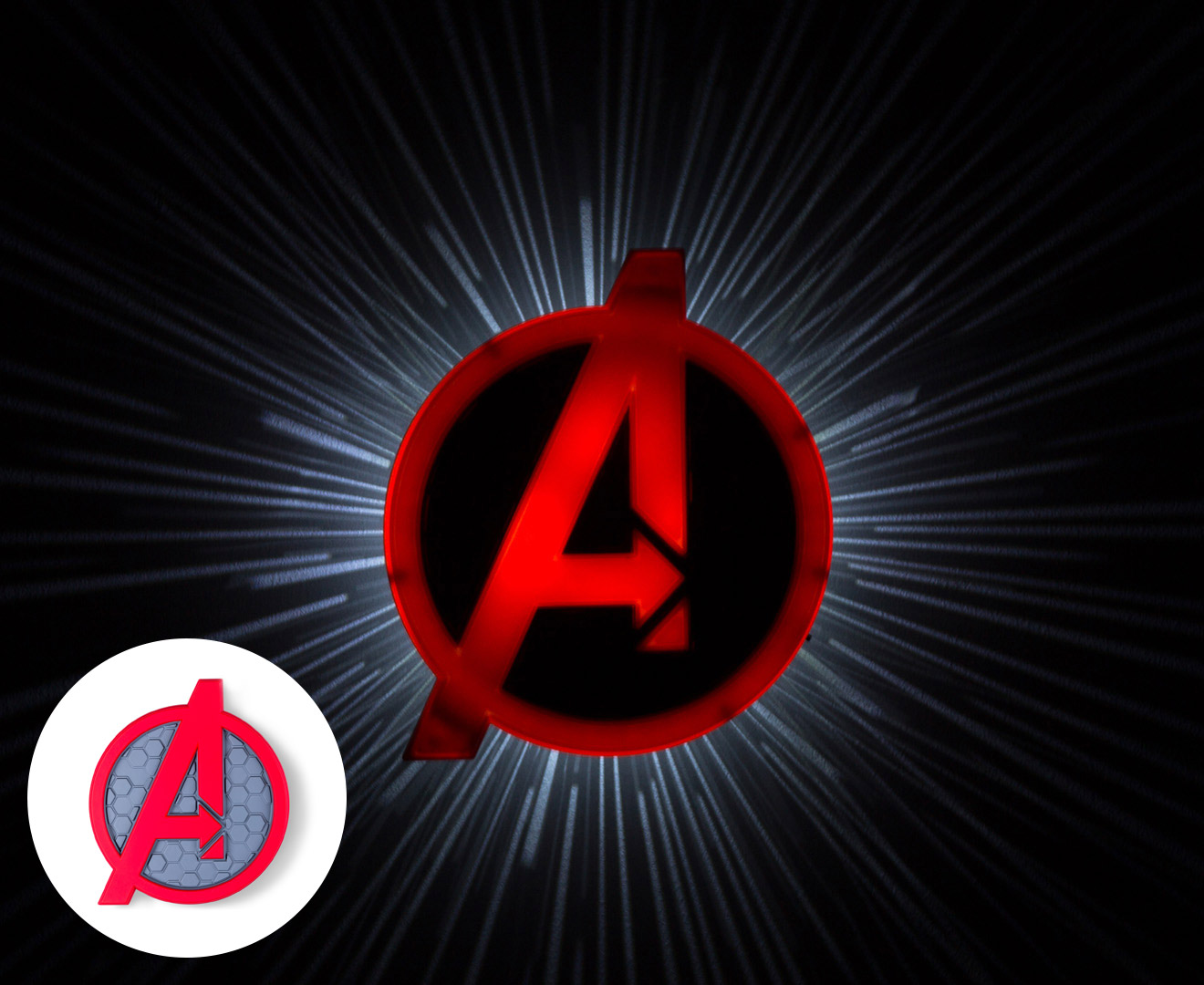 Catch.com.au 3D Marvel Avengers Shield Wall Light - Red