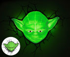 3D Star Wars Ep7 Yoda Face Wall Light - Green 1