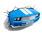 3D Classic Sports Car Wall Light - Blue 3