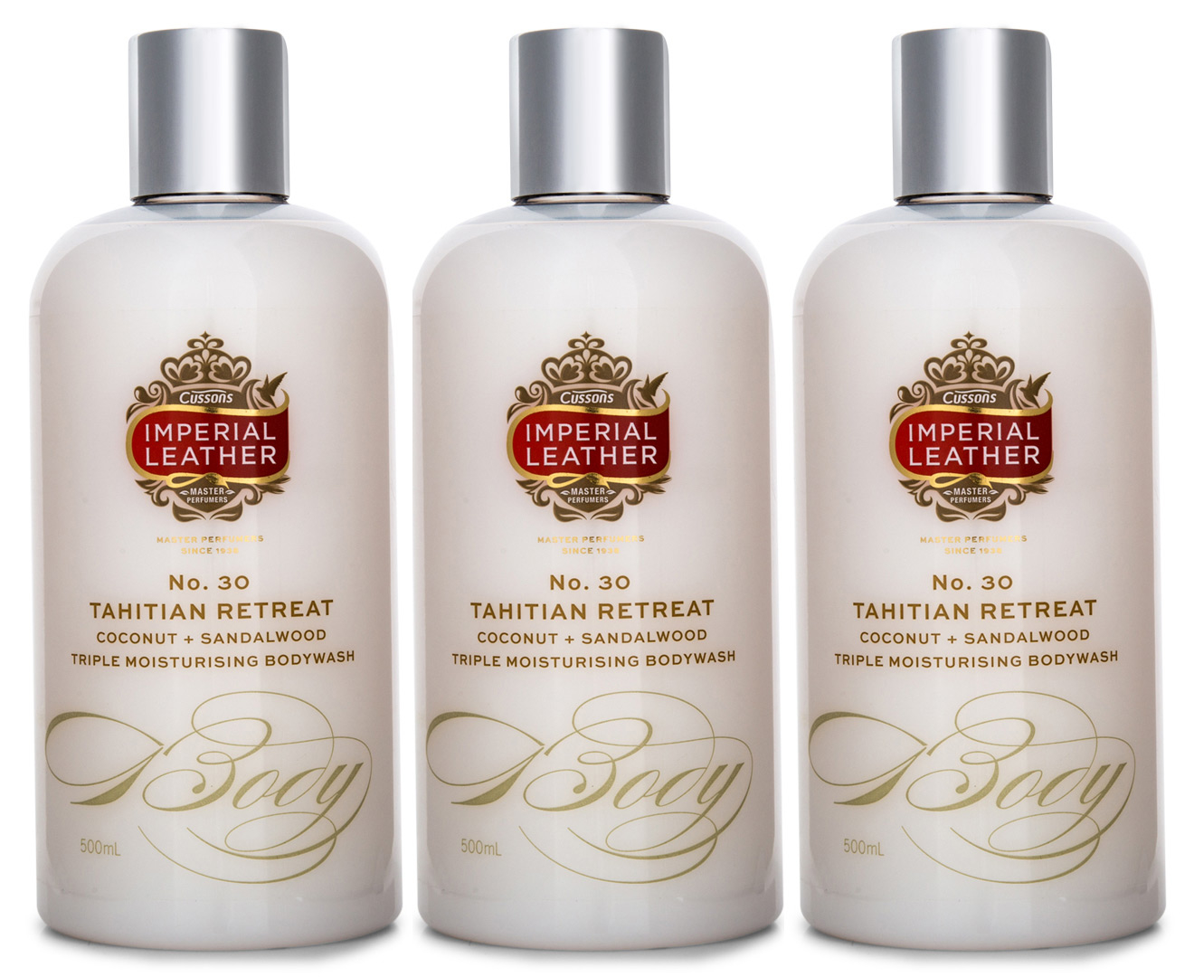 3 X Imperial Leather Tahitian Retreat Coconut Body Wash 500ml Soap