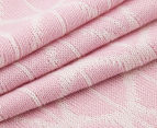 The Peanut Shell Knitted Reversible Bamboo Blanket - Pink 5