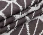 The Peanut Shell Knitted Reversible Bamboo Blanket - Dark Charcoal 5