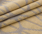 The Peanut Shell Knitted Reversible Bamboo Blanket - Grey/Yellow 5